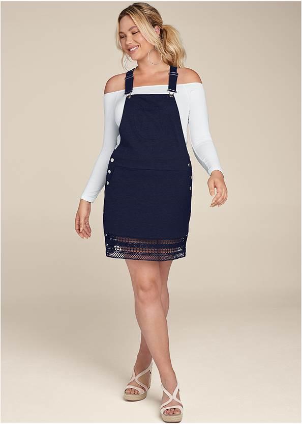 Alternate View Crochet Overall Lounge Dress