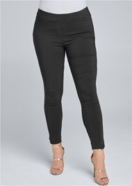 Front view Mid Rise Slimming Stretch Jeggings