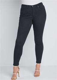 Front View Mid Rise Color Skinny Jeans