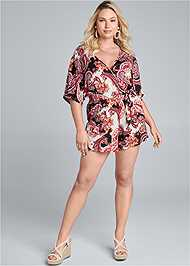 Full Front View Casual Paisley Print Romper
