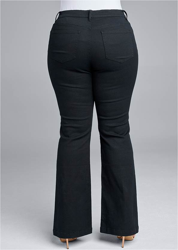 Back View Casual Bootcut Jeans
