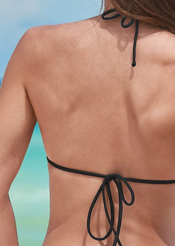 Detail back view Triangle String Bikini Top