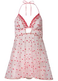 Ghost with background  view Heart Print Babydoll Set
