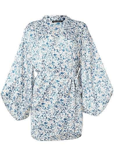 Plus Size Silky Sleep Kimono