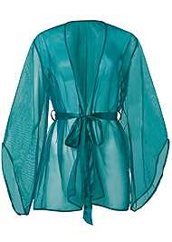Ghost with background  view Short Robe W/ Wide Sleeves