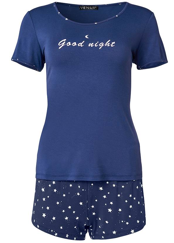 Ghost with background  view 3 Pc Sleep Shorts Set
