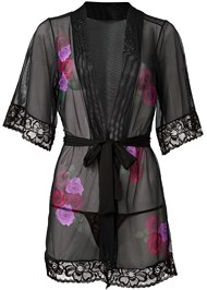 Alternate View Floral Print Sheer Robe