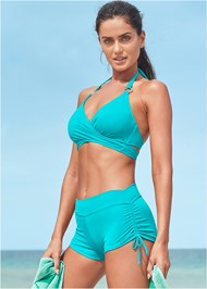 Front View Underwire Wrap Top