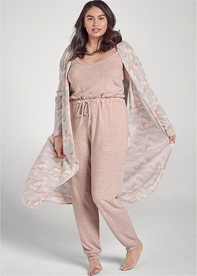 Plus Size Cozy Hacci Jumpsuit