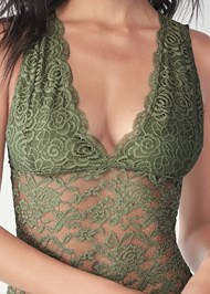 Detail front view Lace Bodysuit