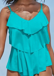 Alternate View Tiered Ruffle Tankini