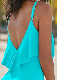 Alternate View Slimming Ruffle One-Piece