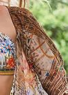 Alternate View Front Tie Kimono Cover-Up