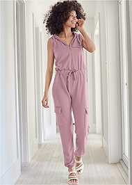 Alternate View French Terry Zipper Utility Jumpsuit