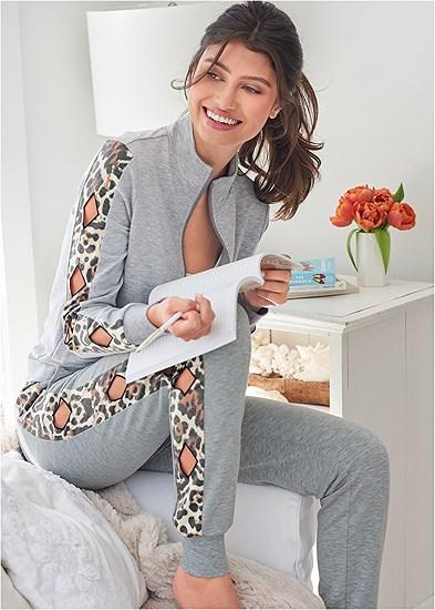 Leopard Cut-Out Jacket