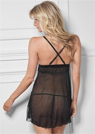 Cropped back view Flyaway Babydoll