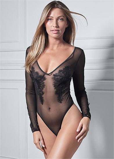 Sheer Long Sleeve Bodysuit