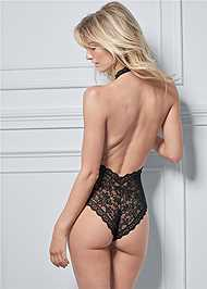 Cropped back view Front Keyhole Bodysuit