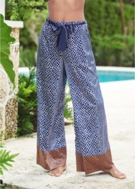 Waist down front view Tie Sleep Pants