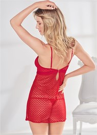 Cropped back view Heart Mesh Babydoll