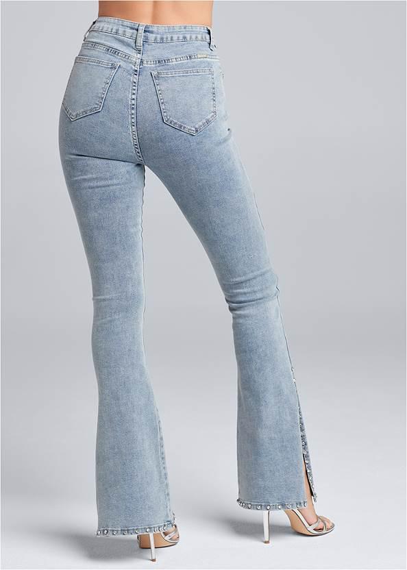Back View Rhinestone Bootcut Jeans