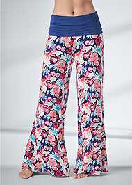 Cropped Front View Palazzo Sleep Pant