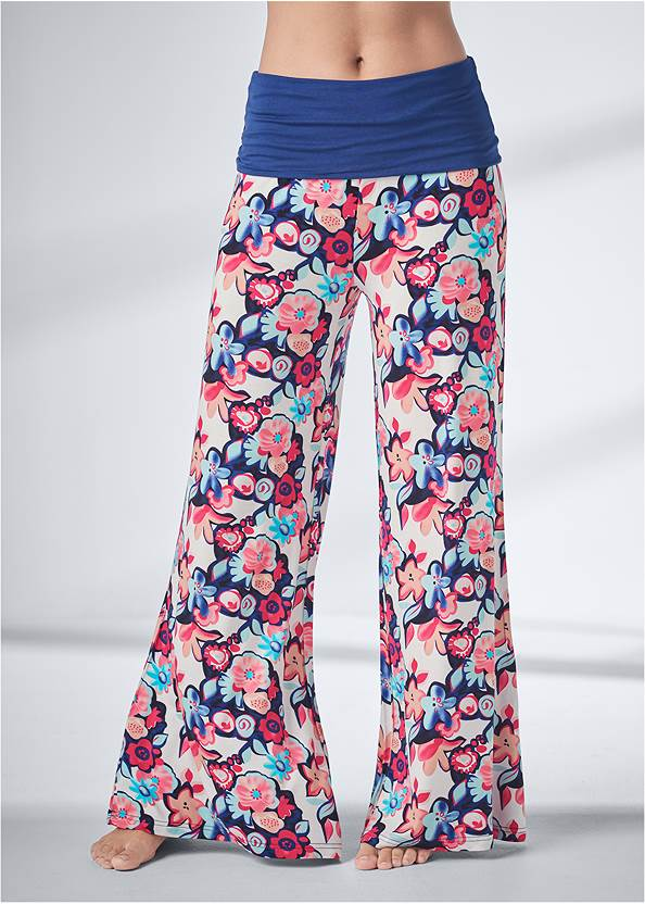 Cropped Front View Palazzo Sleep Pants