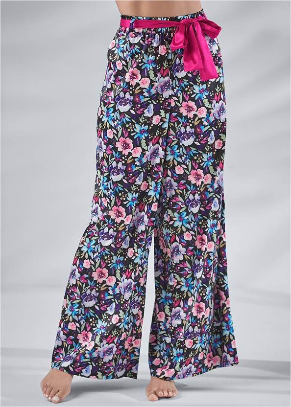 Cropped Front View Tie Sleep Pants