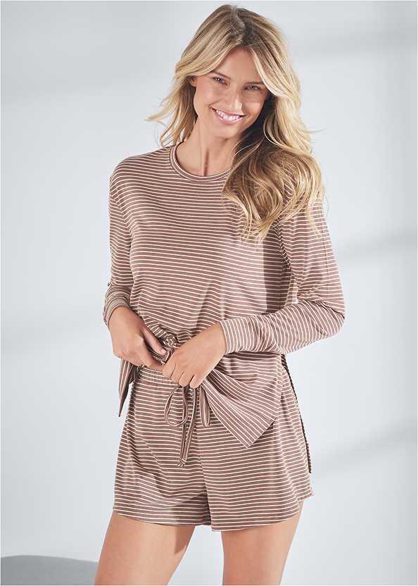 Long Sleeve Sleep Shirt,Sleep Shorts