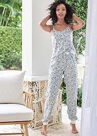 Full front view Silky Jogger Sleep Set
