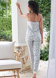 Full back view Silky Jogger Sleep Set