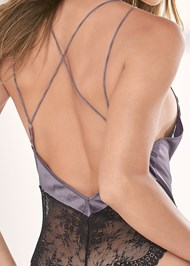 Alternate View Satin And Lace Bodysuit