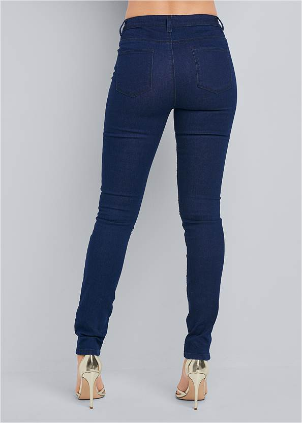 Back View Beaded Skinny Jeans