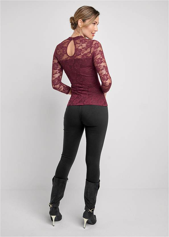 Back View Lace Keyhole Top