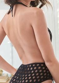 Alternate View Plunge Dot Mesh Bodysuit
