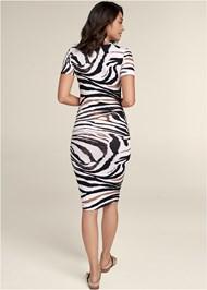 Back View Printed Bodycon Dress