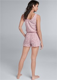 Back View Cozy Hacci Romper