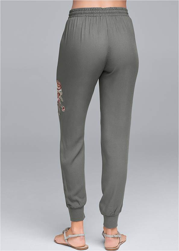 Back View Embroidered Pants