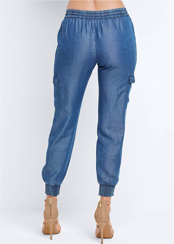 Back View Chambray Joggers