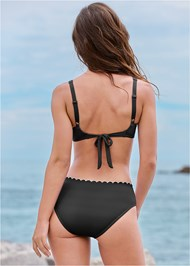 Back View Scalloped Underwire Top