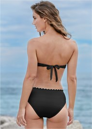 Back View Scalloped Bandeau Top