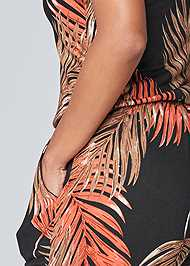 Alternate View Palm Printed Jumpsuit