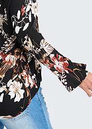 Alternate View Off Shoulder Floral Top