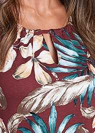 Alternate View Floral Print Keyhole Top