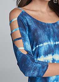Alternate View Printed Sleeve Detail Top