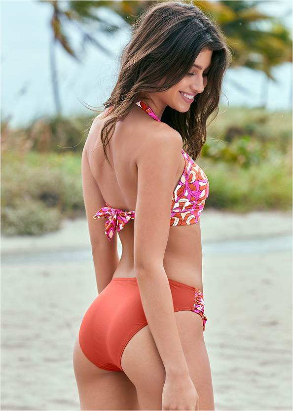 Back View Halter Ring Bikini Top