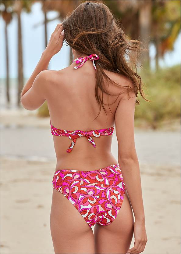 Back View Cut Out Plunge One-Piece