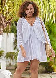Front View Mesh Cover-Up Dress