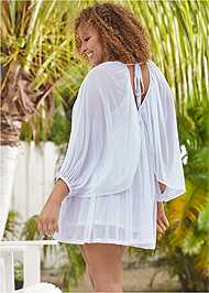 Back View Mesh Cover-Up Dress