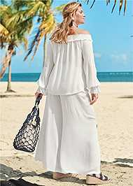 Back View Off Shoulder Cover-Up Top